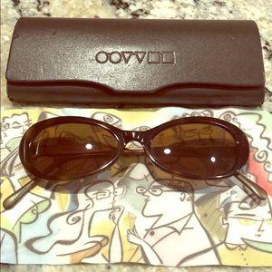 Oliver People's designer tortoise sunglasses
